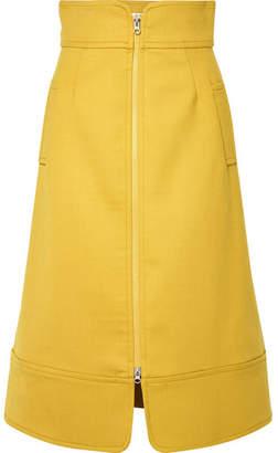 Sea Crepe Midi Skirt - Mustard