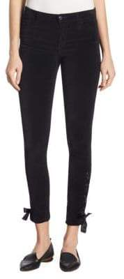 Joe's Jeans Icon Lace-Up Velvet Skinny Ankle Pants