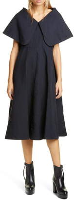 Comme des Garcons Exaggerated Pilgrim Collar Midi Dress