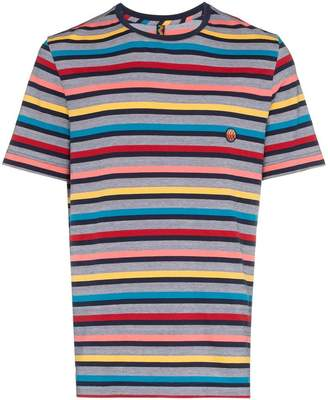 Missoni multicoloured striped cotton t shirt