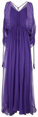 Alberta Ferretti Silk Tassle Detail Gown