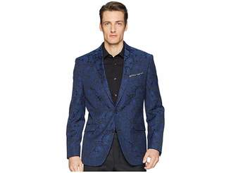 Kenneth Cole Reaction Blue Brocade Evening Jacket