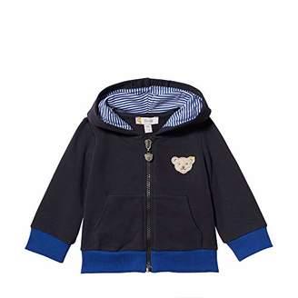 Steiff Baby Boys Sweatjacke Sweat Jacket, Blue (Black Iris 32), (Manufacturer Size: 56)