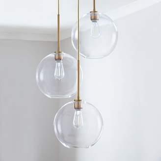 west elm Sculptural Glass Globe 3-Light Chandelier - Medium
