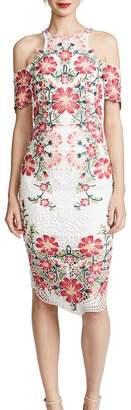 Thurley Flower Bomb Lace Midi Dress Multi