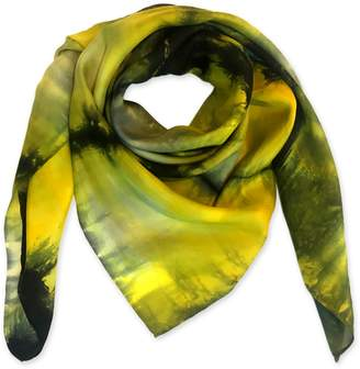 Riona Treacy - Yellow Python Silk Scarf