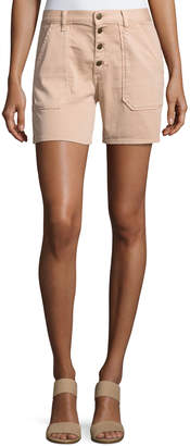 BA&SH Cmira High-Rise Slim-Fit Shorts Makeup