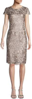 Alex Evenings Embroidered Lace Sheath Dress