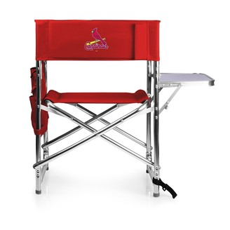 Picnic Time St. Louis Cardinals Sports Side Table Chair