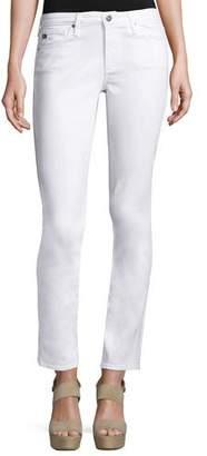 AG Prima Mid-Rise Cigarette Jeans, White $188 thestylecure.com