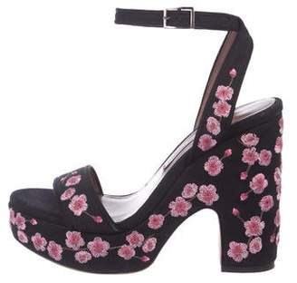 Tabitha Simmons Ankle Strap Floral Sandals