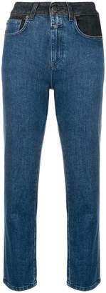 Closed high waisted straight jeans
