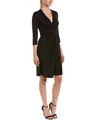 Three Dots Women's Refined Jersey Draped Mid Loose Skirt