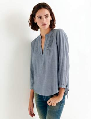 Lucky Brand CHAMBRAY POPOVER