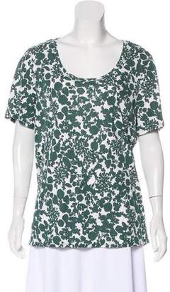 Tory Burch Floral Short Sleeve T-Shirt