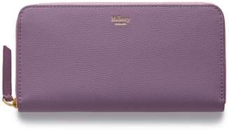 Leather Zip Around Wallet - Lilac 8 by VIDA VIDA F2pKbxu