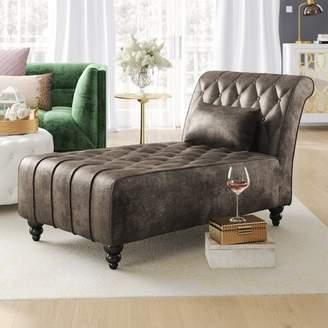 Mercer41 Andrews New Velvet Chaise Lounge