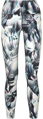 Nike Ice Flash Power Legend Printed Dri-fit Stretch Leggings - Gray
