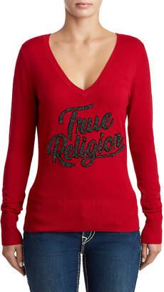 True Religion WOMENS CLASSIC VARSITY SWEATER