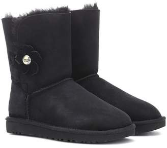 UGG Bailey Button Poppy suede ankle boots