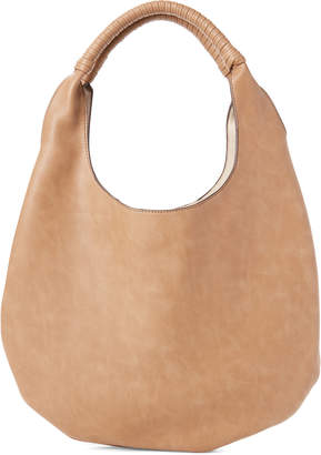Street Level Taupe Faux Leather Hobo