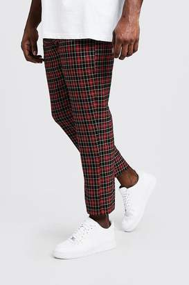 Big & Tall Tartan Cropped Trouser