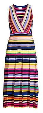 Milly Women's Surplice Stripe Knit Dress
