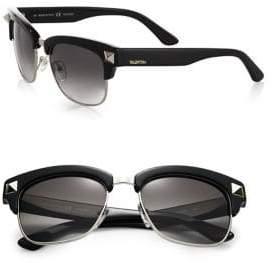 Valentino 53MM V118SM Rockstud Plastic& Metal Clubmaster Sunglasses