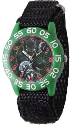 Marvel Marvel's Super Hero Adventure Black Panther Toddler Boys' Green Plastic Time Teacher Watch