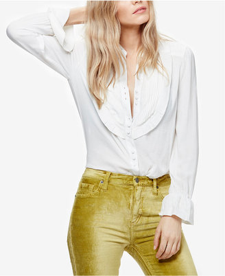 Free People All Shook Up Pleated Shirt $118 thestylecure.com