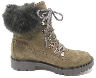 Charles David Ramses Faux Fur Leather Boot