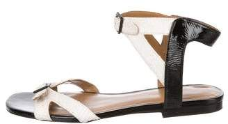 3.1 Phillip Lim Embossed Ankle-Strap Sandals