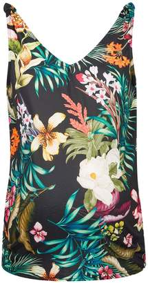 fa313f33f787c Dorothy Perkins Womens **Maternity Black Tropical Print Knot Vest