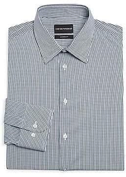 Emporio Armani Men's Modern Fit Check Dress Shirt