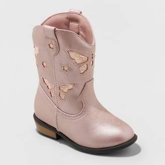 Cat & Jack Toddler Girls' Riley Western Boot Pink