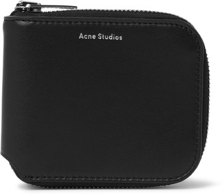 Acne Studios Kei S Logo-Print Leather Zip-Around Wallet - Men - Black