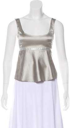 Giorgio Armani Empire-Waist Sleeveless Top