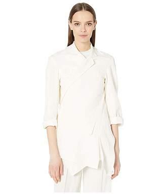 Sonia Rykiel Organic Linen Asymmetrical Jacket