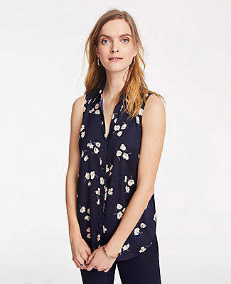Ann Taylor Tall Floral Essential Sleeveless Shirt