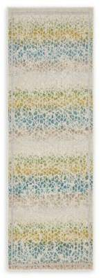 Bed Bath & Beyond Unique Loom Maui Transitional 6' Runner Powerloomed in Cream