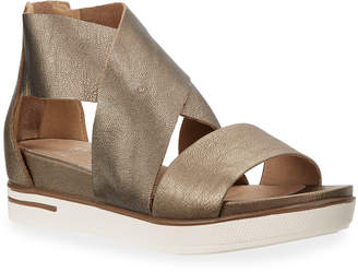291b7b90646c Eileen Fisher Sport Metallic Leather Platform Sandals