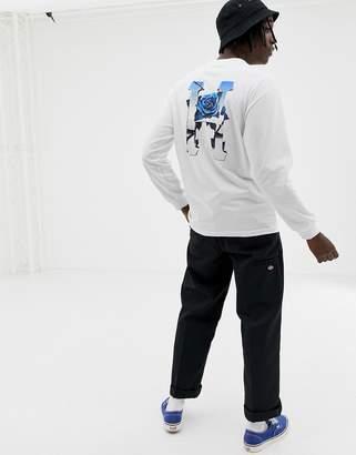 HUF Ice Rose Back Print Long Sleeve T-Shirt In White