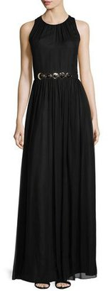 Kate Spade New York Sleeveless Embellished-Waist Maxi Dress, Black $498 thestylecure.com