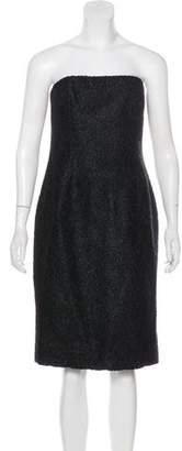 Celine Wool-Blend Patterned Dress
