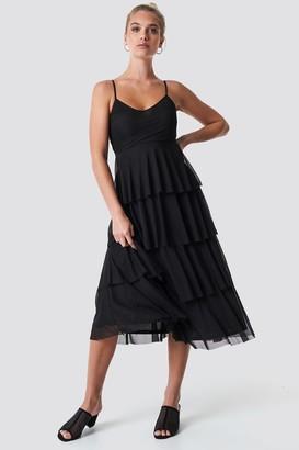 NA-KD Na Kd Mesh Layered Slip Dress