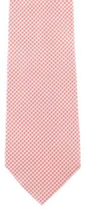 Etro Geometric Print Silk Tie