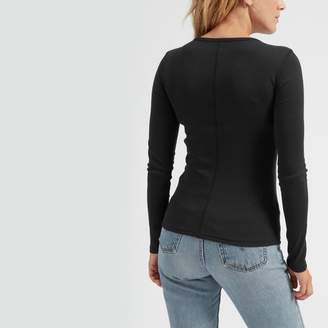 Everlane The Pima Micro Rib Long-Sleeve Crew