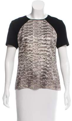 Jason Wu Contrasted Short Sleeve Top