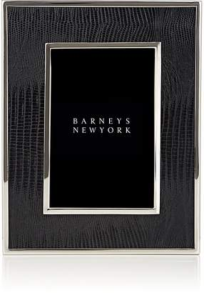 "Barneys New York Lizard-Embossed 4"" x 6"" Picture Frame"