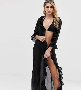 bb577f90f8f Akasa Exclusive maxi black beach kaftan